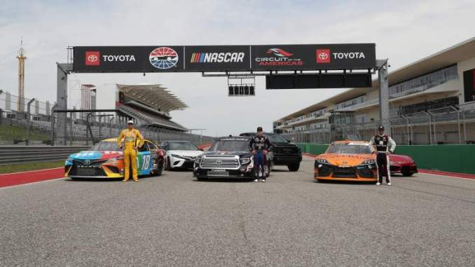 NASCAR: Toyota Racing Conducts on-Track Tests at COTA-Austin