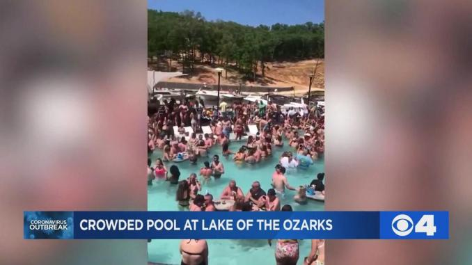 WATCH: Packed pool party at Lake of the Ozarks shows crowd ignoring social distancing guidelines | News