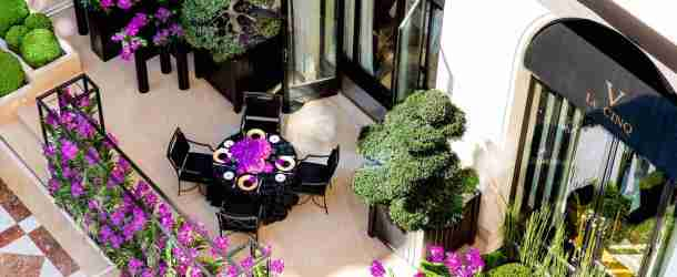 Three Michelin starred 'Le Cinq' unveils exclusive al fresco table at the Four Seasons Hotel George V, Paris