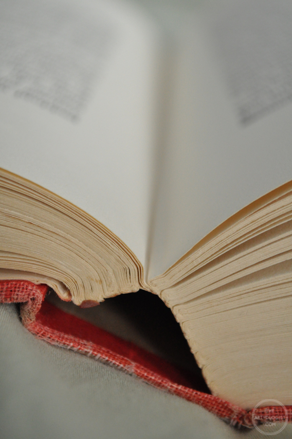 the artyologist- image of a vintage book with open pages