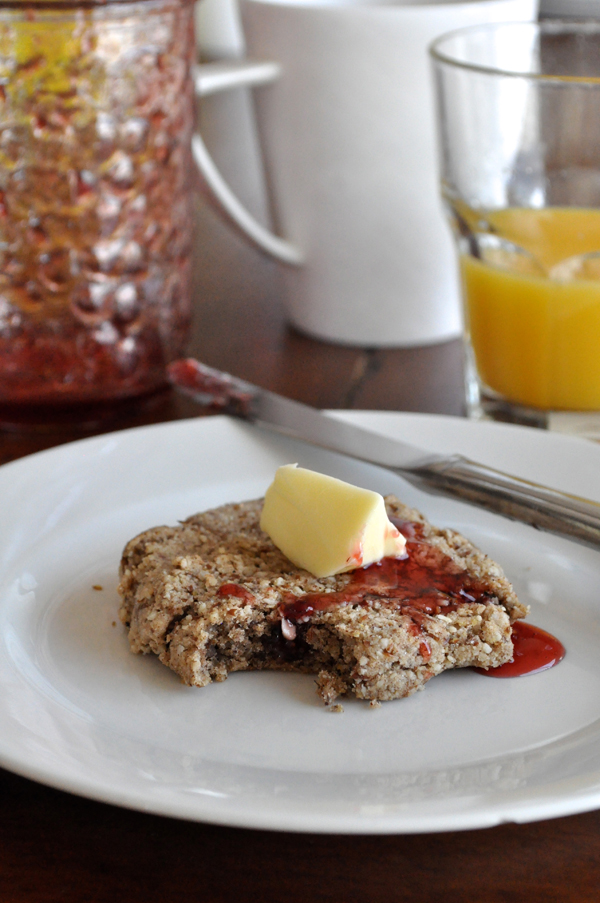 the artyologist- image of valentines cranberry and pecan scones in the shape of hearts and jam