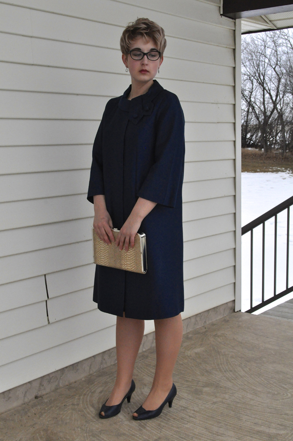 the artyologist- imag of a peggy french couture vintage 1960's swing coat