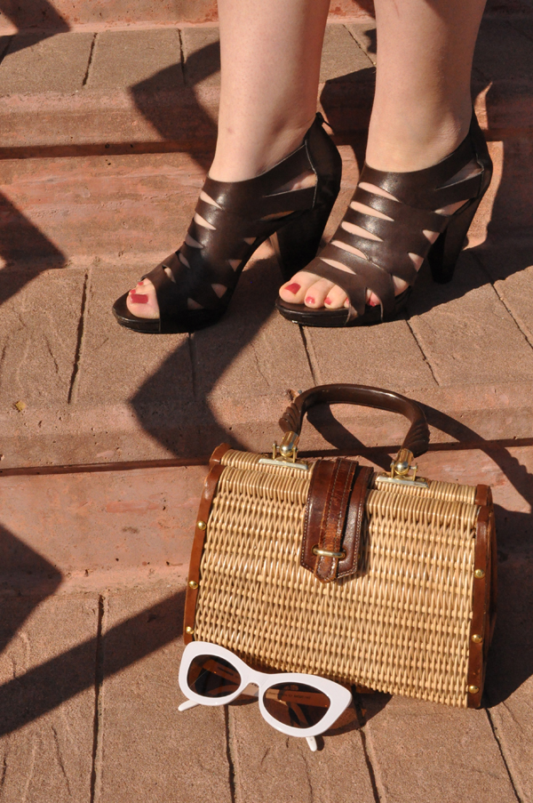 the artyologist image of franco sarto shoes and bamboo purse artistic