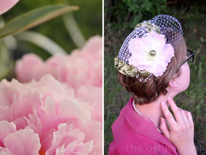 back of hat and peony the artyologist