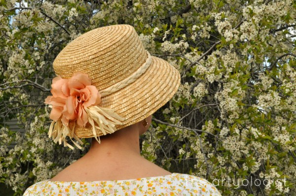 image of peach straw hat the artyologist