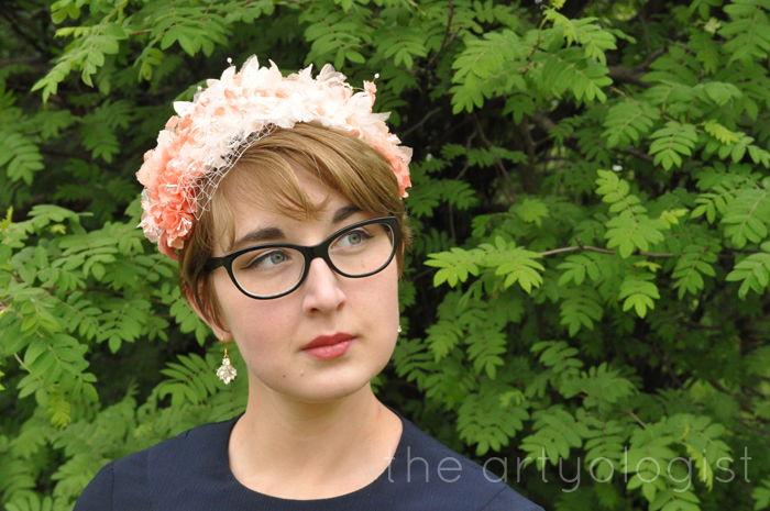 image of flower covered peach hat the artyologist
