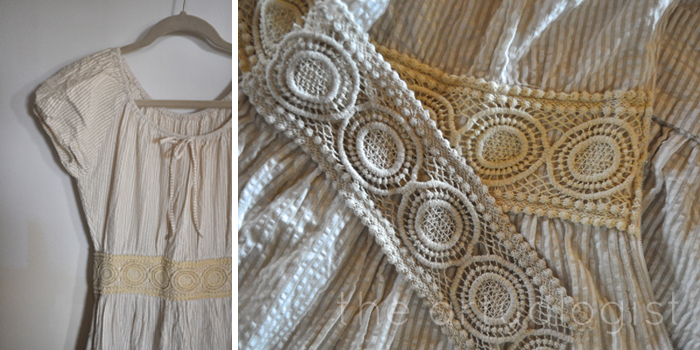 image of lace waistband before after the artyologist