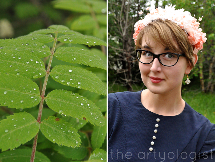 image of leaves and peach flower covered hat the artyologist