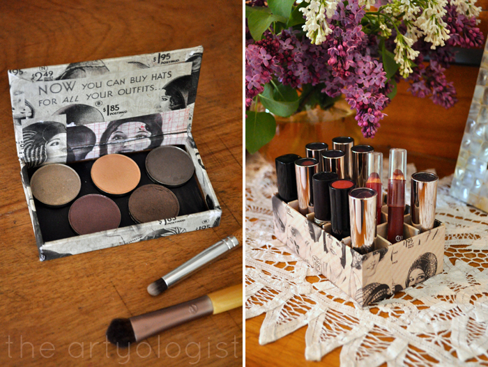image of makeup organizers eyeshadow and lipstick the artyologist