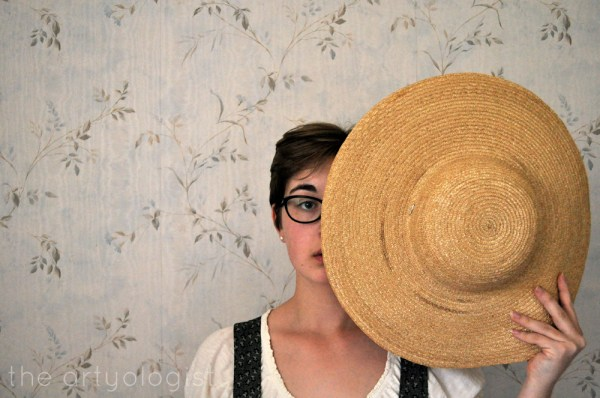 the artyologist self portrait with straw hat