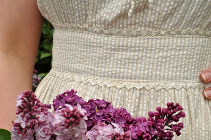 image of seersucker dress waistband the artyologist