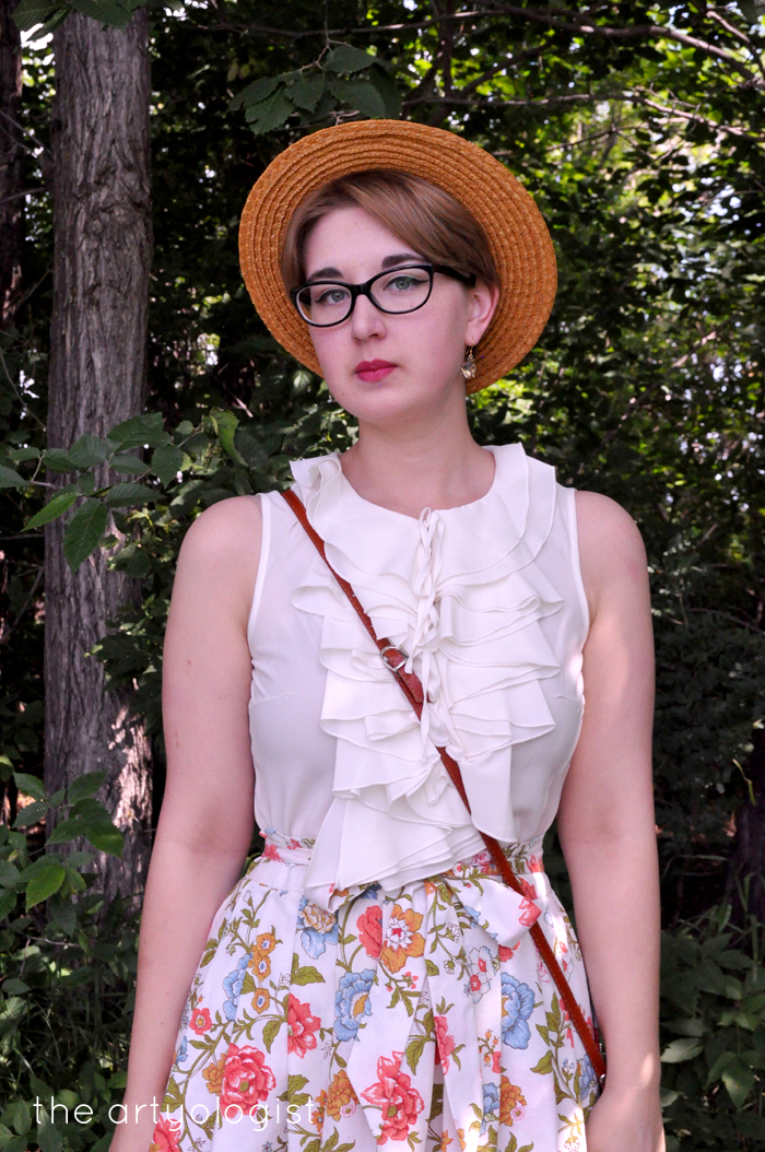 an almost recycled skirt of vintage fabric the artyologist