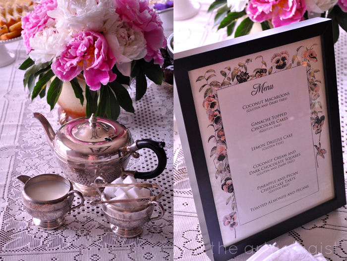 menu and silver service for ladies tea party the artyologist