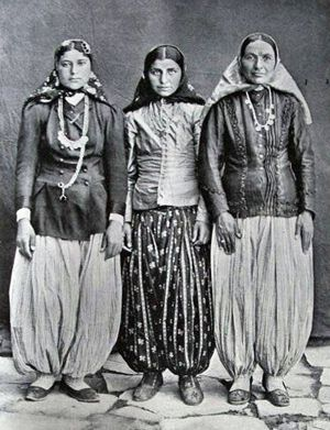 Three Persian Ladies in Traditional Dresds