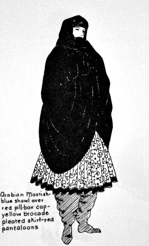 arabian moorish clothing, the artyologist