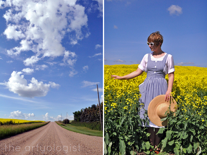 gingham pinafore dress and country road the artyologist