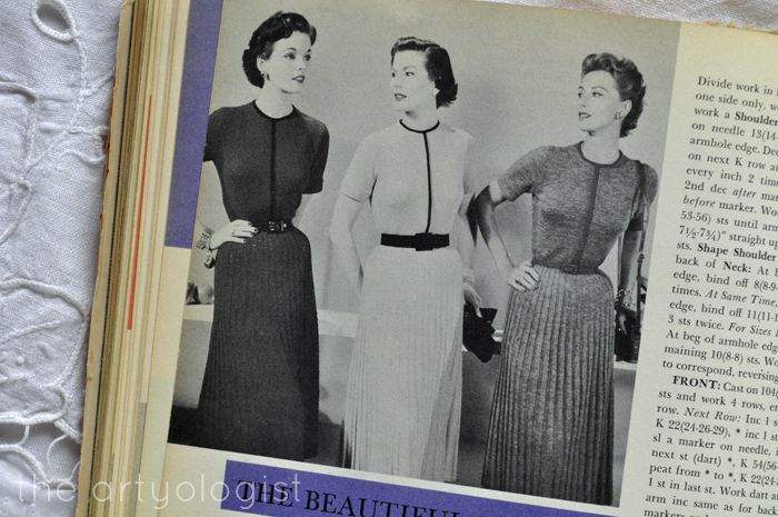 trio of knitted crocheted dresses McCall's Treasury The Artyologist