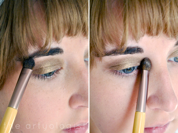 applying-highlighter, how to create a modern 1920's makeup look, the artyologist