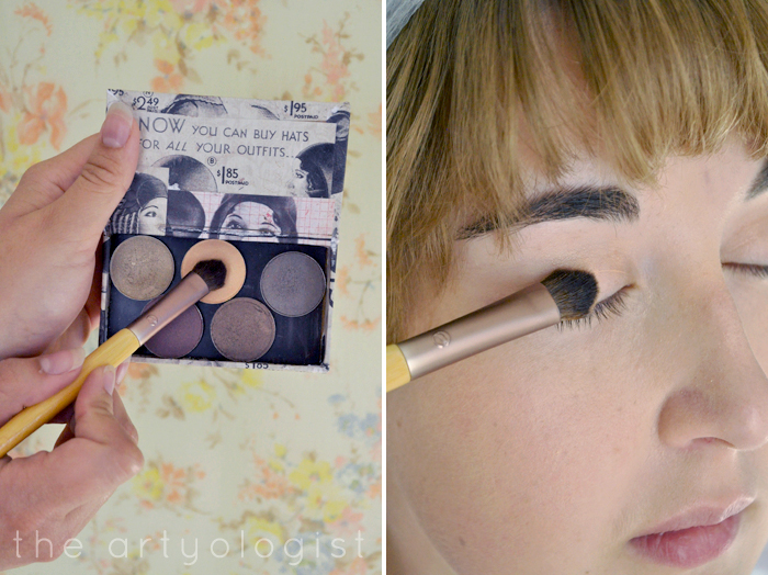step one eyeshadow, How to Create a Modern 1920's Makeup Look, the artyologist