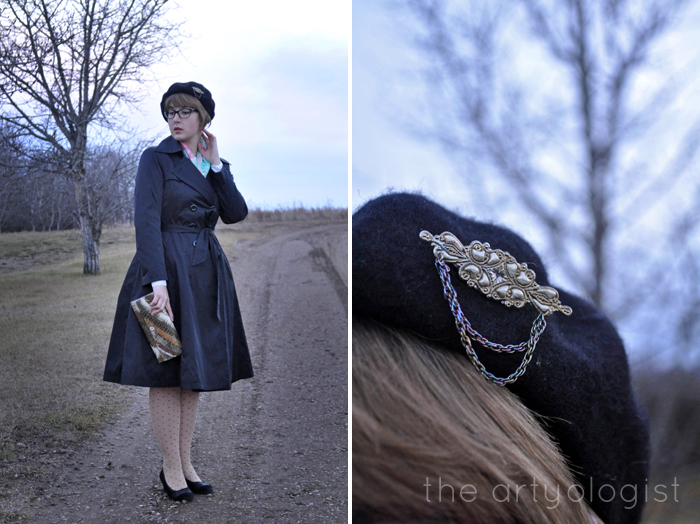 beret-brooch-and-coat, the artyologist