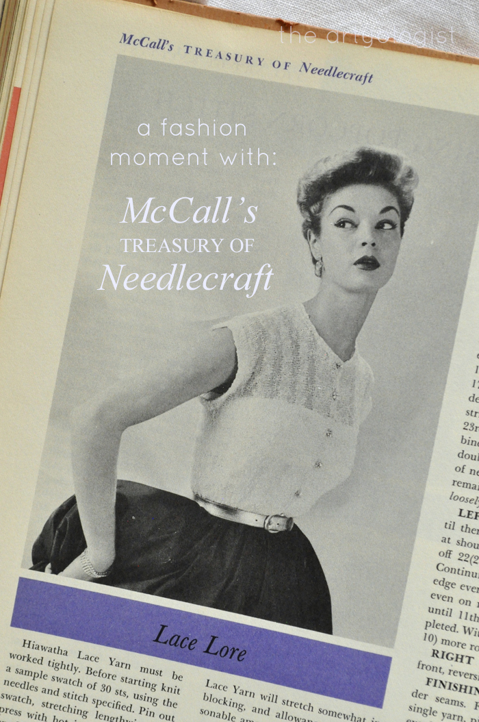 a fashion moment with McCall's Treasury of Needlecraft, Dressy Sweaters, the artyologist