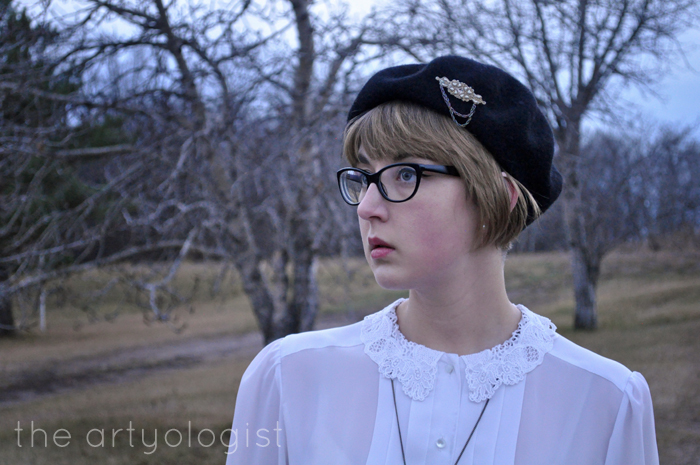 wool beret, what to wear with weather like this, the artyologist