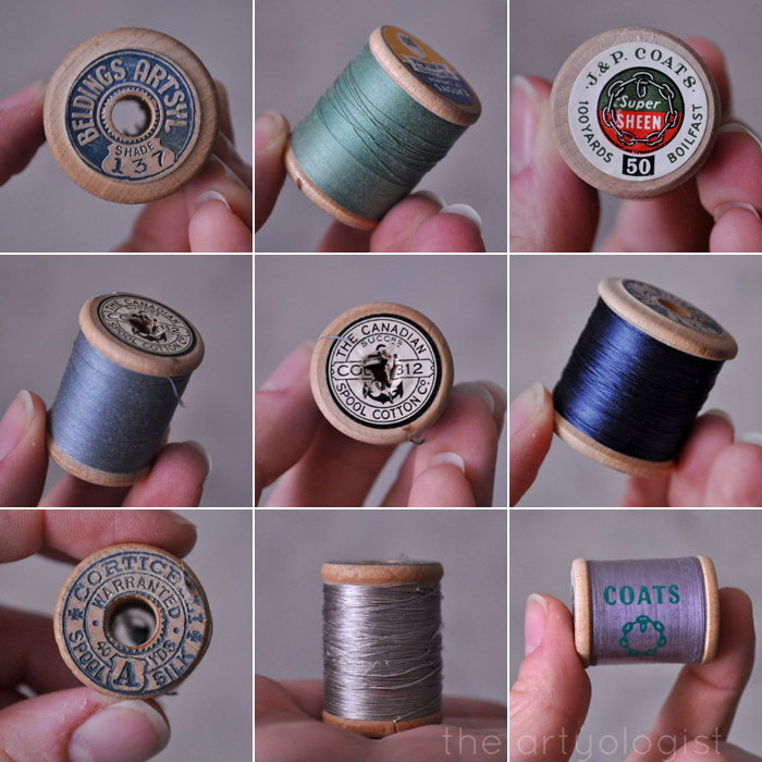 thread-spools-grid, the artyologist