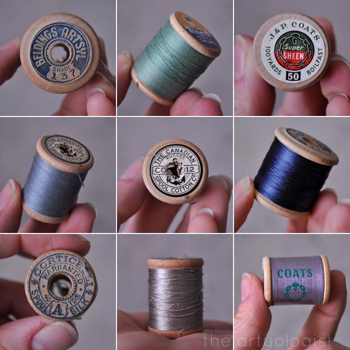 thread-spools-grid, the artyologist