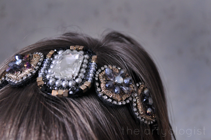 leave a little sparkle, deco headband, the artyologist