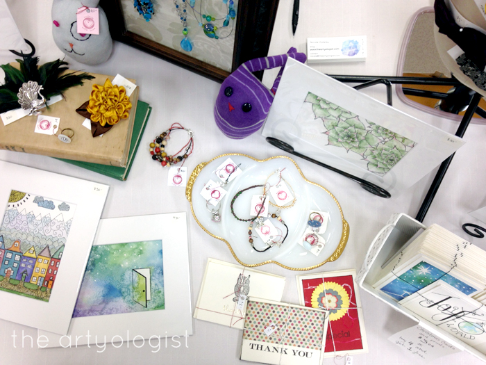 Craft Sale table top, the artyologist