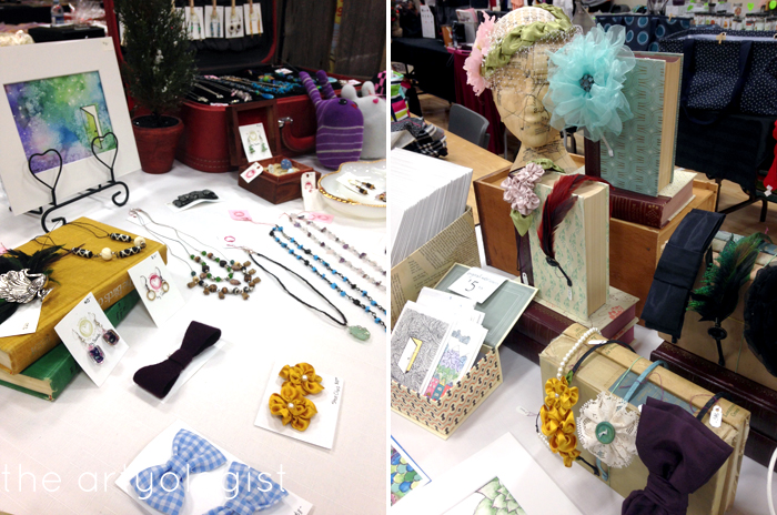 Craft Sale table display, the artyologist