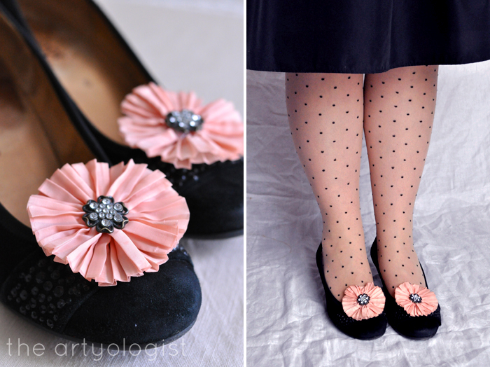 Bringing Back Coupon Busters One Pair of Shoe Clips at a Time, the artyologist, black, coral clips