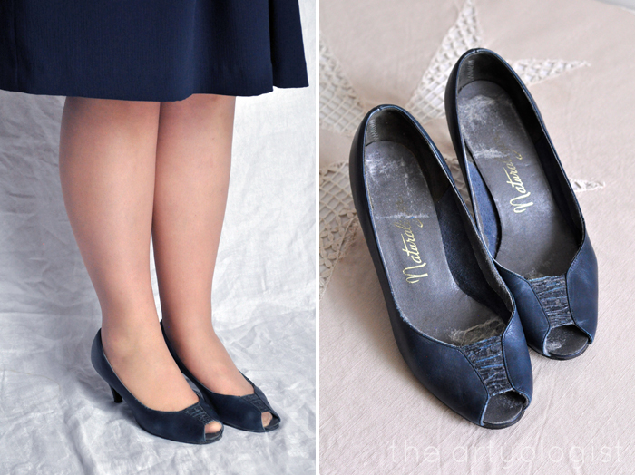 Bringing Back Coupon Busters One Pair of Shoe Clips at a Time, the artyologist, Navy shoes, no clips