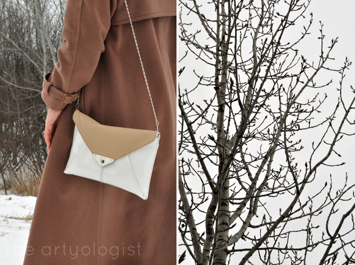 Winter Outerwear: The Bane and Blessing of Our Existence, the artyologist, purse detail