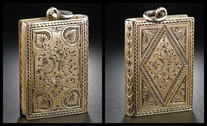 Antique-gold-book-locket
