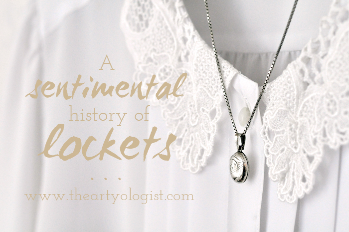 a sentimental history of lockets, the artyologist