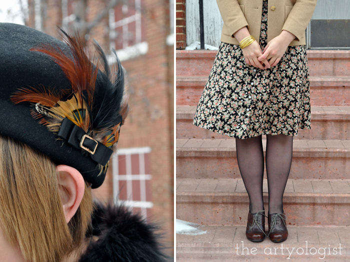 Florals for February and those projects I never get to, the artyologist, shoes and hat