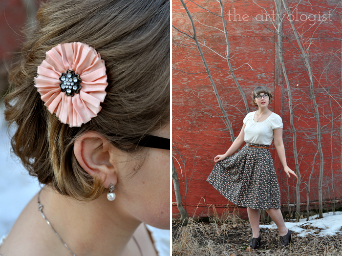 Love is Forever. Winter is Not. The Artyologist, hair flower and Valentine's Day Outfit