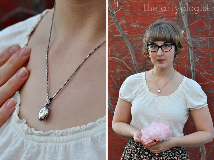 Love is Forever. Winter is Not. The Artyologist, locket and Valentine's Day outfit
