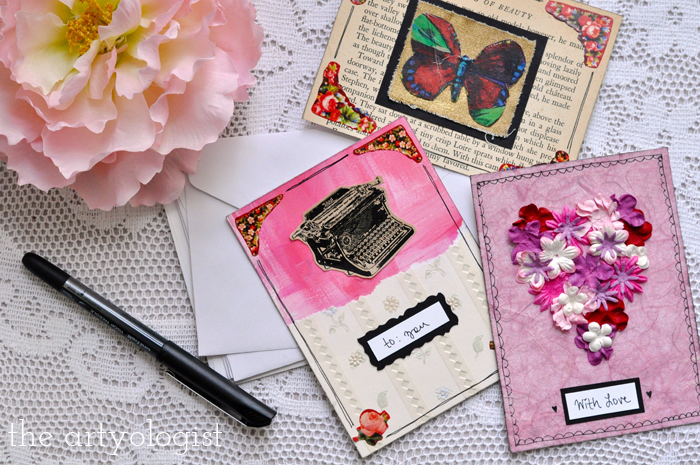 the artyologist, writing valentine's day postcards