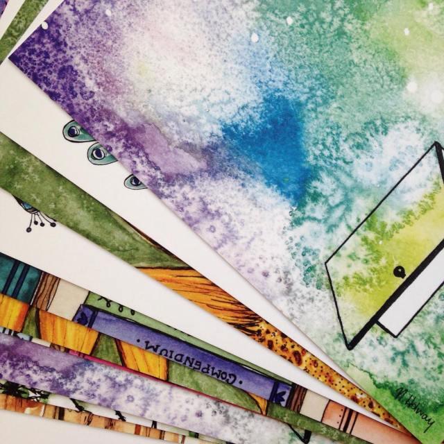 I got prints of my watercolours! I am so pleasedhellip
