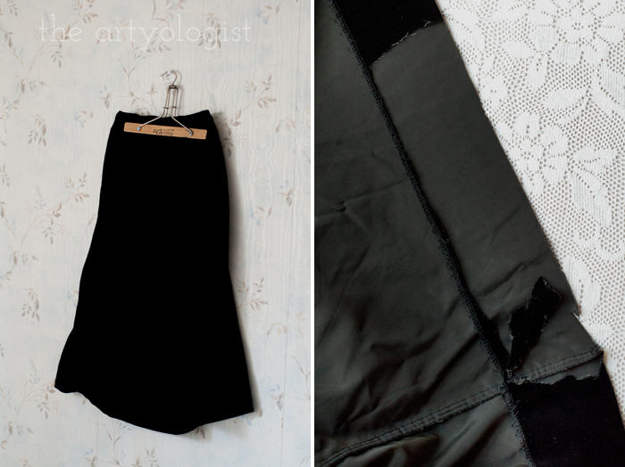 Fashion Revolution Haulternative (aka Thrift Finds) the artyologist, velvet skirt