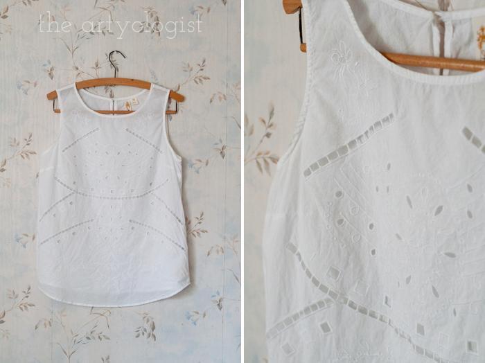 Fashion Revolution Haulternative (aka Thrift Finds) the artyologist, white top