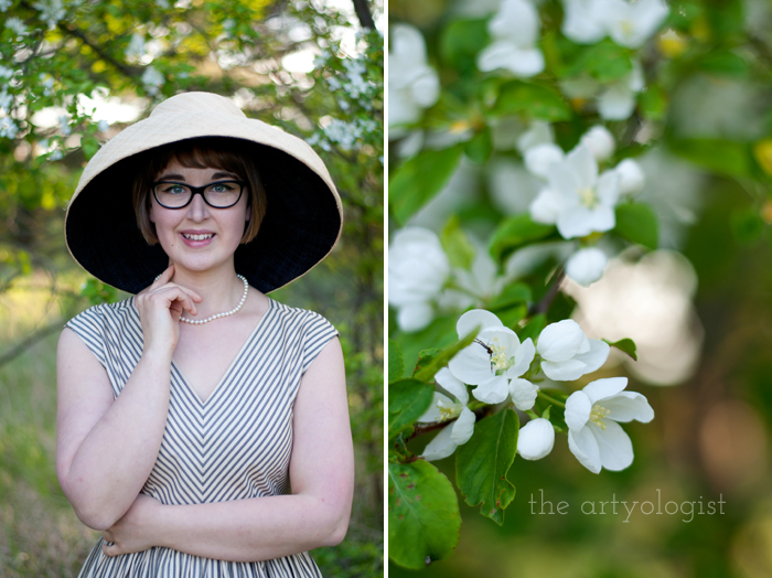 Salvaging a Sewing Project with Vogue 8789, the artyologist, portrait-and-blossoms