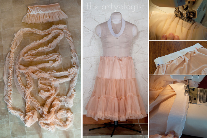 Simple Petticoat Alteration, the artyologist, ruffles and second petticoat