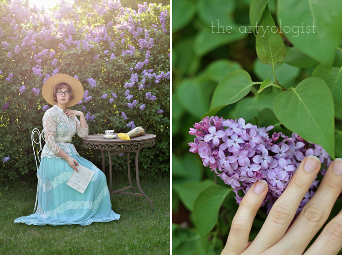 lilacs and love letters, (and the post that almost wasn't), the artyologist reading the letter, lilacs