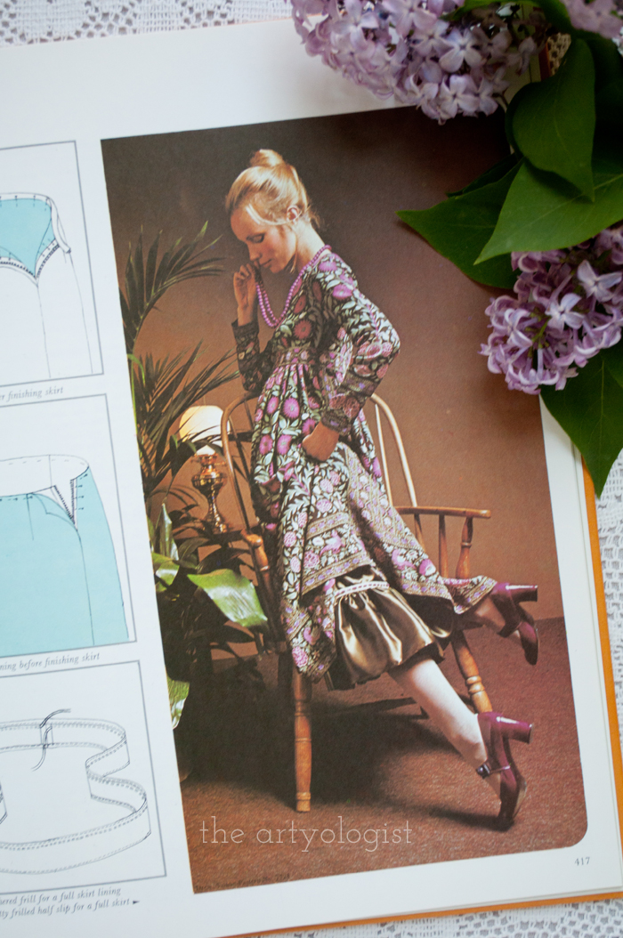 A Fashion Moment with Creative Hands: Lilac, dress with petticoat