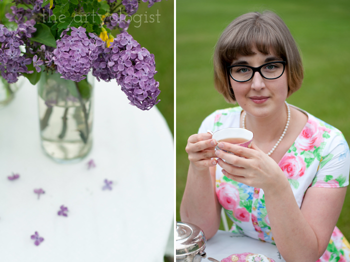 The Ladies Garden Tea (Which is not in a Garden): My Outfit, the artyologist, drinking tea and bouquet