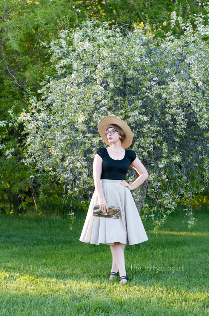 The Circle Skirt Strikes Again (With the Hell Bunny Melissa Top), the artyologist