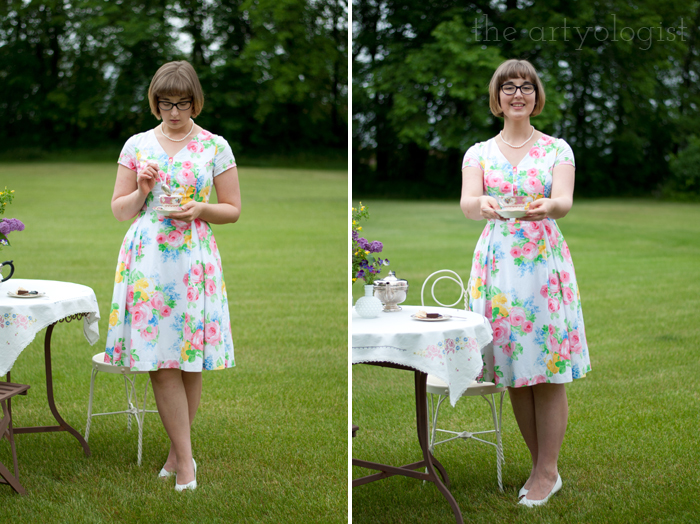 The Ladies Garden Tea (Which is not in a Garden): My Outfit, the artyologist, floral dress
